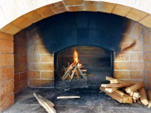 Новая русская печка на дровах в Эко-деревне Раздолье